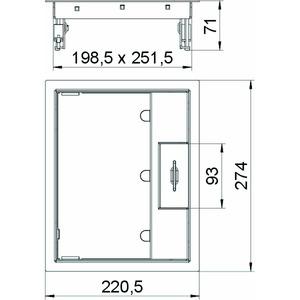 GES6M-2 10U, Geräteeinsatz für Universalmontage 274x221x70, V2A, 1.4301