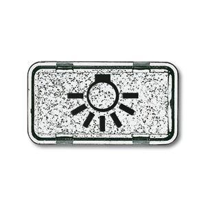 2622 LI-101, Tastersymbol, glasklar, Unterputz wassergeschützt, Sondersteckvorrichtungen, Abdeckungen für Schalter/Taster