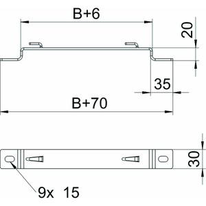 DBLG 20 300 FS, Distanzbügel für Gitterrinne B300mm, St, FS