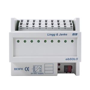 BE9FK, KNX standard Binäreingang 9-fach, Kontaktabfrage, 6 TE;