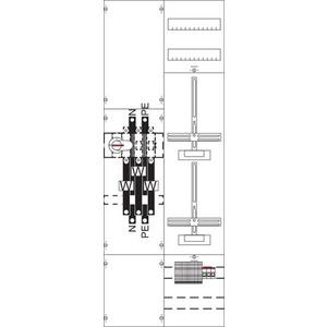 KA4207, Mess- und Wandlerfeld BH5 vorverdrahtet mit Zählerkreuz