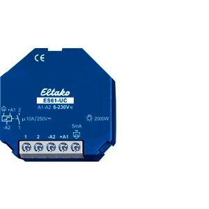 ES61-UC, Stromstoßschalter UC. 1 Schließer potenzialfrei 10A/250V AC