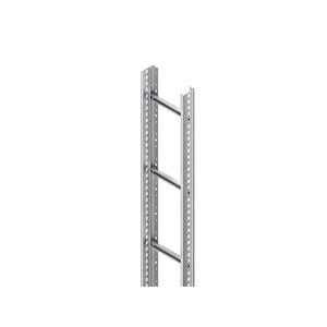 STL 60.403/3, Steigetrasse, 60x400x3000 mm, Sprossenabstand 300 mm, 1 kN, t=1,5 mm, Stahl, bandverzinkt DIN EN 10346