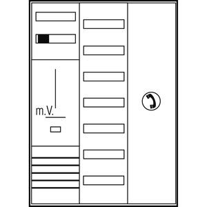 Komplett-Schrank EFH/3Pkt. BW