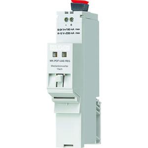 Medienkonverter, 2fach, REG, 1xRJ45, 1xPOF (Polymer Optical Fiber, 2,2mm Duplex)