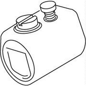 435, Klemmhülse mit Innengewinde, M10x1, Kabel-Ø 3-6,5 mm, Festellschraube, Kunststoff PS, Farbe schwarz