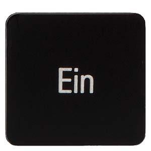 3SB3906-1EY, Bezeichnungsschild zum Kleben auf Geh., 22x22mm, schwarz