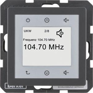 Radio Touch Q.1/Q.3 anthrazit samt