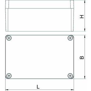 Mx 120805 SGR, Aluminiumleergehäuse 125x80x57, AlG, P, silbergrau, RAL 7001