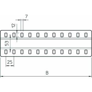 SSLB 200 A2, Stoßstellenleiste breit, mit 2 Befestigungen B200mm, V2A, A2