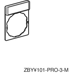 Schildträger 30x40mm, für Ø 22 Geräte, m. Schild EIN