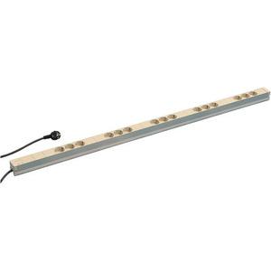 SCHUKO-Steckdosenleiste, 15 Steckereinsätze