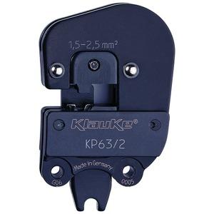 Presskopf für Flachsteckhülse 6,3 x 0,8mm,seitl. Anschluss, 1,5-2,5mm² für 3735