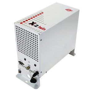 X-2 Basis twin, Basiseinheit mit 2 Steckplätzen zur Aufnahme von Signalumsetzern der X-Serie, Eingangsverteiler, inklusive Steckernetzteil, vor Bestellung bitte Kompa