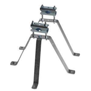 Mastbügelgarnitur-Set, Wandabstand 300mm, Mastdurchmesser 38-60mm