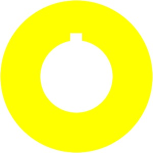 EMPYSTT-V7, Polyester, gelb, Etiketten f. Thermotransferdrucker gelb