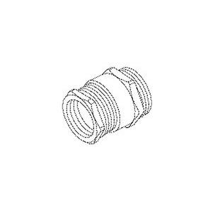 927/13, CONUS-Kabelverschraubung, Sechskant-ZW-Stutzen,Pg 13,5, Kabel-Ø 9-12mm, Messing, vernickelt