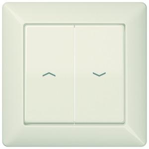 AS 590-5 P, Abdeckung, Symbole Pfeile, volle Platte, für Jalousie-Wippschalter, Jalousie-Taster und Taster BA 2fach Tasterstellung