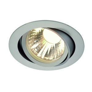 NEW TRIA LED DISK Downlight, rund, silbergrau, 2700K, 60°