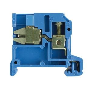 NT 6/35 10X3 KRG/BL, Trenn- und Messtrenn-Reihenklemme, Schraubanschluss, 6 mm², 400 V, 41 A, gleitend, Quertrennung: ohne, TS 35, blau