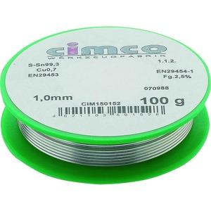 Elektroniklot bleifrei 1,5mm 100g, DIN 29453, Einwegspule