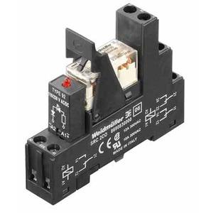 RCLKIT 24VDC 2CO LED GN, Relaiskoppler, 24 V DC, LED grün, Freilaufdiode, 2 Wechsler (AgNi 90/10) , 250 V AC, 8 A, Schraubanschluss