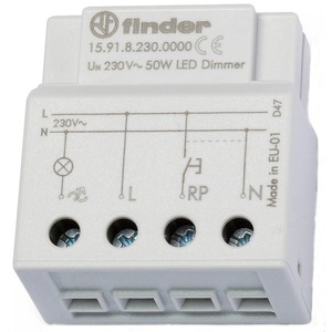 15.91.8.230.0000, Dimmer, elektronisch, kleine Bauart für UP-Dose oder Schalterdose, für dimmbare LED-Lampen bis 50 W