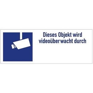 AKL Video, Aufkleber Videoüberwachung, mit blauem Kamerasymbol nach DIN 33450