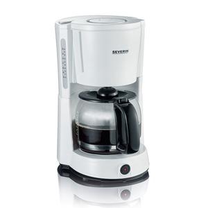 Kaffeemaschine 1000W, 10 Tassen, weiß/schwarz