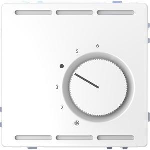 Raumtemperaturregler 230 V m. Wechselk. u. Zentralpl., Lotosweiß, System Design