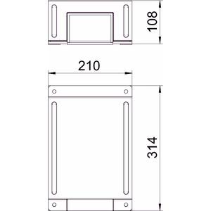 BSKM-TR 0711RW, T-Reduzierabzweig für Wand- und Deckenmontage 70x110, St, L, reinweiß, RAL 9010
