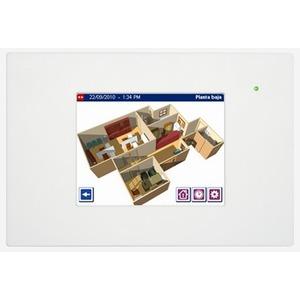 DW-HC1i-KNX-W, Iddero HC1i-KNX 5,7 TOUCH PANEL, mit integriertem Web Server, mit Frontrahmen in weiß