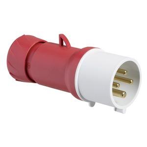 CEE Stecker, Schraubklemmen, 32A, 3p+E, 380-415 V AC, IP44