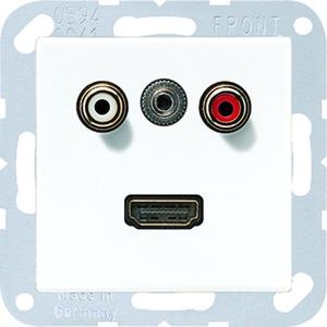 MA A 1082 WW, Cinch Audio, Miniklinke3,5mm und HDMI, Tragring, Schraubbefestigung, bruchsicher