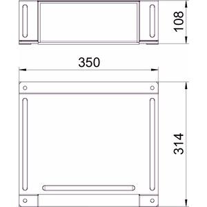 BSKM-TA 1025RW, T-Abzweig für Wand- und Deckenmontage 100x250, St, L, reinweiß, RAL 9010