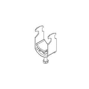 1491A22, Bügelschelle, für 1 Kabel, für Kabel-Ø 18-22 mm, Stahl, feuerverzinkt DIN EN ISO 1461