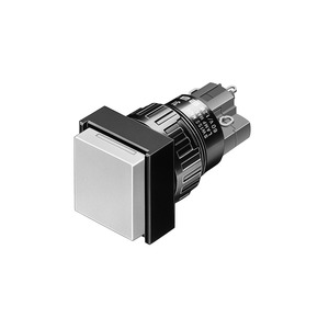 Leuchtdrucktaste R SP 2Ö+2S L 18x18 Ag/Au