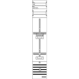 KA2267, Zählerfeld BH5 1Z1TSG vorverdrahtet mit Zählerkreuz Netzsystem TN-S 5-polig