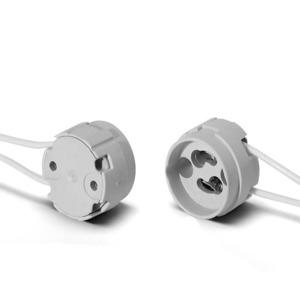Fassung GZ10, GU10, Kunststoff, für Hochvolt Halogenlampe, weiß, 504305