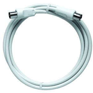 Anschlusskabel IEC, 1,5 m, hochgeschirmt, weiß, Axialstecker, Axialkupplung, KDG