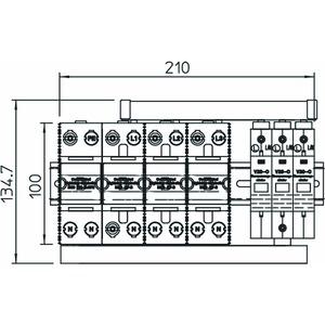 PS4-VA TT+TNS, Protection Set vierpolig und leckstromfrei 255V