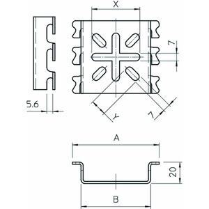 MPG 65 FT, Montageplatte klein, für Gitterrinne 110x68, St, FT