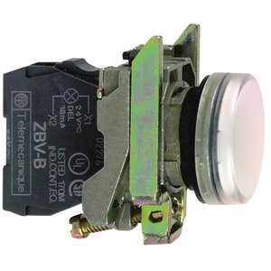 Leuchtmelder, weiß, +LED 24V AC/DC