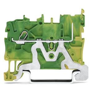 2020-1207, 1-Leiter/1-Pin-PE-Basisklemme 1 mm² grün-gelb
