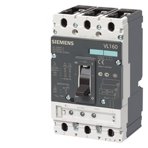 3VL2716-2SB36-8TB1, Leistungsschalter VL160H hohes Schaltvermögen Icu=70kA, 415V AC 3-polig, Anlagenschutz Überstromauslöser ETU10, LI In=160A, Bemessungsstrom IR=64...16