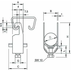 2056U 64 A2, Bügelschelle 58-64mm, V2A, A2
