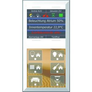 "LCN - GTS10DW, GT rahmenlos, weiß, mit 6+4 Tasten, 6 LEDs+2,8""Farbdisplay, integr. TS"