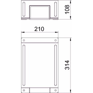 BSKM-TRK 1025RW, T-Reduzierabzweig für Wand- und Deckenmontage 100x250, St, L, reinweiß, RAL 9010