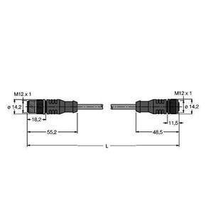 RSSW-RKSW451-0.3M, PROFIBUS-Leitung, PUR-Kabelmantel