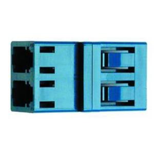 J08071A0000, LC Duplex Kupplung, Multimode und Singlemode, Keramikhülse, Kunststoffgehäuse